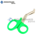 OdontoMed2011® PARAMEDIC UTILITY BANDAGE FIRST AID STAINLESS STEEL TRAUMA EMT EMS SHEARS SCISSORS 2.2m GREEN ODM