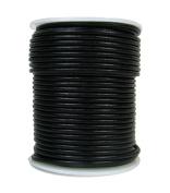 Premium Round Leather Cord, 25 Metre Spool, 2mm Black