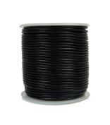 Premium Round Leather Cord, 25 Metre Spool, 1mm Black