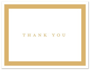 50 Simple Border Thank You Cards