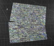 NEW PAUA BLUE sheet shell inlay 9.5 x 14cm x 0.02cm
