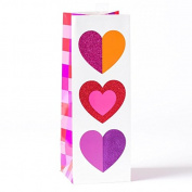 Papyrus Multicolor Hearts Bottle Gift Bag