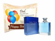 Happy Birthday Dad Gift Card Box. With Nautica Voyage Perfume