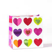 Papyrus Multicolor Hearts Medium Gift Bag