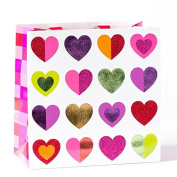 Papyrus Multicolor Hearts Large Giftbag