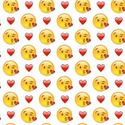 Happy Valentine's Day, Emoji Design Wrapping Paper - 1.8m Roll