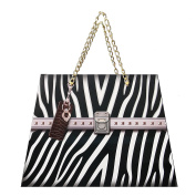 8 CT LUXURY brand bag printed GIFT BAGS with gold chain handle