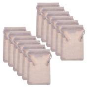 BCP 12pcs 7cm x 10cm Double Drawstring Cotton Muslin Bags Reusable Bags Tea Bags Souvenir Gift Bag