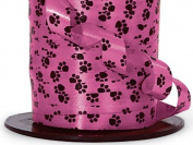 1.1cm Paw Print Hot Pink Gloss Curling Ribbon 500 yds Total
