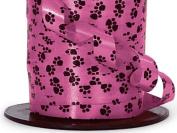 1.1cm Paw Print Hot Pink Gloss Curling Ribbon 500 yds Total