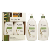 Aveeno Active Naturals Daily Moisturising Lotion, Twin Pack 590ml