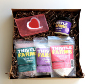 All Natural Luxurious Bath Gift Box with Bath Salts, Soap, and Body Balm