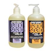 Everyone Botanical Lavender + Coconut Hand Soap & Everyone Botanical Apricot + Vanilla Hand Soap Bundle, 380ml each