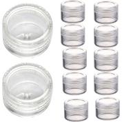 Doinshop 3 Gramme Jar Plastic Empty Cosmetic Sample Containers Jars Pots Screw Cap Lid