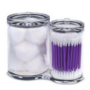 PuTwo 2 Sections Cotton Ball and Swab Organiser