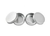 12PCS 60ml 2oz Empty Refillable Cosmetic Sample Aluminium Tins Jars with Tight Sealed Twist Screwtop Lip Balm Make Up Eye Shadow Cream Nail Art Powder Containers Pot