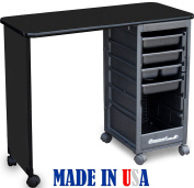 C119KD ECONO Manicure Nail Table Black lam.Top by Dina Meri