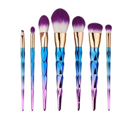 7pcs Professional Makeup Brushes Set for Brow Eyeshadow Blush Powder Eyeliner