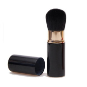 Aguder Retractable Powder Brush Portable Face Loose Powder Foundation, Blush Brush Beauty Cosmetic Tool, Black