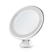 7X Magnifying Vanity Mirrors Bathroom Suction Cup 360° Rotating LED Lighted Makeup Mirror,Battery Operated or USB Cable