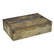 Benzara 71491 Vintage Wood Box Resin