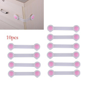 Vanki 10Pcs Baby Child Infant Toddler Kids Safe Safety Home Toilet Door Wardrobe Cabinet Cupboard Drawer Fridge Lock Latch