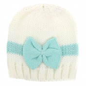Tangc Newborn Infant Baby Girls Bow Bowknot Knit Crochet Cap Hat Cute Hat Prob Beanie