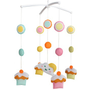 Unisex Baby Musical Crib Mobile Gift [Cupcake] Baby Room Decoration