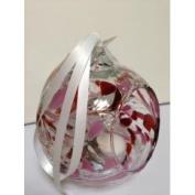 Milford Collection Hanging Glass Birthstone Nightlight Globe -Garnet - January