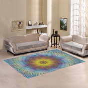 JC-Dress Area Rug Cover Colourful Swirl Modern Carpet Cover 2.1mx1.5m