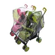 OTRMAX Side by Side Twin Stroller Rain Cover, Waterproof Windproof Stroller Raincoat, Baby Double Stroller Weather Shield [Universal Size]