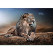 Whitelotous 5D Diamond Painting DIY Paint-By-Number Kit Craft Home Wall Decor - Lion 40 x 30 cm
