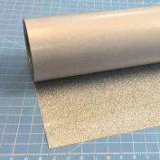 Silver Siser Glitter 50cm x 1.5m Iron on Heat Transfer Vinyl Roll