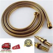 Generic YZ_739818YZ_7 Titanium Gold Titaniu 200cm Double Flexible Hose Bathroom Sprayer e Fle Tube Shower Hose Double Buckle NV_1008003981_YZ_US7