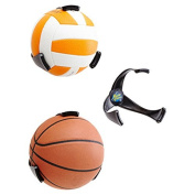 Plastic Ball Claw Wall Mount Space Save Basketball Holder Bkack