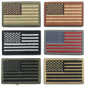 WZT Bundle 6 pieces american flag hook and loop patch
