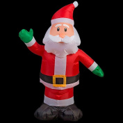 Home Accents Holiday 80cm . W x 45cm . D x 110cm . H Lighted Inflatable Outdoor Santa