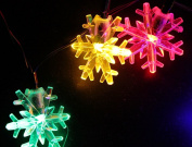 Inngree Snowflake Solar String Light (6.1m 30 LED lamps) Waterproof Solar Power String Lights for Parties,gardens,outdoor,home,holiday Decorations, Christmas Tree Decorations