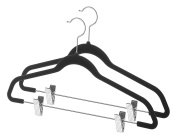 Whitmor 6478-5940-2-BLK Spacemaker Suit Hangers with Clips-Set of 2 black