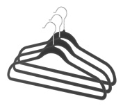 Whitmor 6478-1621-3-BLK Spacemaker Suit Hangers Set of 3
