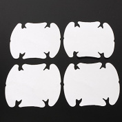 4pcs car door wrist handles protective film vinyl stickers