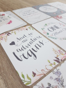 Floral Baby Milestone/Month Cards | baby shower gift | baby cards