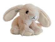 Histoire d 'Ours - peuches Soft Toys - Plush Bunny - Beige and White Creme Size