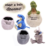 SOFT PLUSH ADOPT A BABY DINOSAUR IN EGG CUDDLY TOY TEDDY CHILDRENS COMFORTER