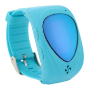 kkmoon GPS Tracking Smart Watch for Kids Smartwatch GPRS GPS Tracker Locator for Children Babies Wristwatch Anti Lost Compatible With IOS Android Smartphone