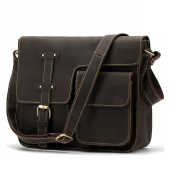 Mens genuine leather messenger bag,cross shoulder laptop bag. We could go on and on about how great this bag is, but we think the images will do a better job