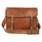 Desert Town Brown Leather Messenger Bag for Men Women Vintage College Gifts Ideas