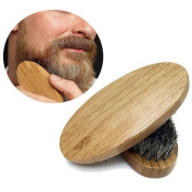 HENGSONG Beard Brush with Soft Boar Bristle Hair for Help Softening and Conditioning Itchy Beards