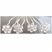 20 Pcs Bridal Wedding Prom Crystal FLOWER Multi Coloured STUD Hair Pins