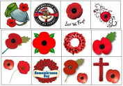 Remembrance Day Poppy Temporary Tattoos